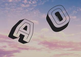 das a und o, worte, buchstaben, himmel, wolken, schreiben, kurzprosa, bild, foto
